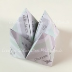 Menu mariage origami